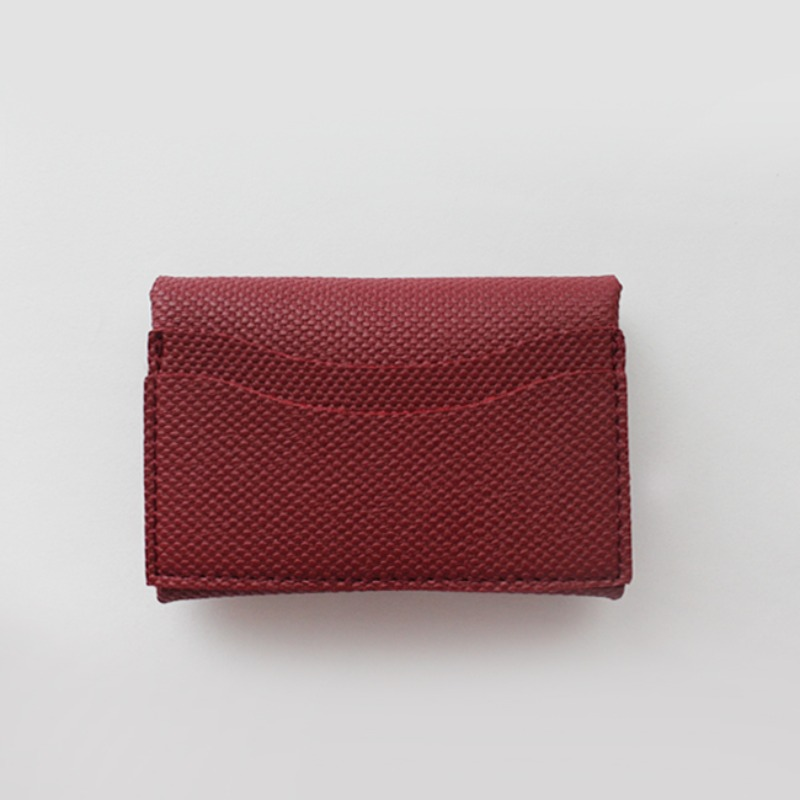 Mini Soft Multi Card Wallet_ Red